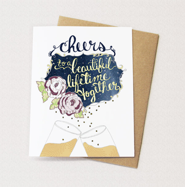 Cheers Wedding Card - Reservoir