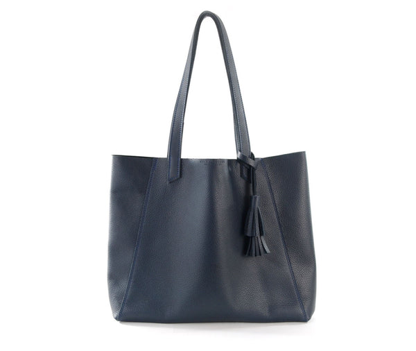 June Tote - Marbled Navy
