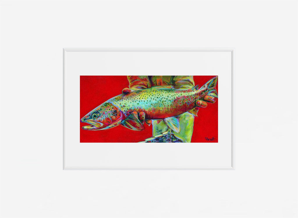 Rainbow Trout Print - Reservoir