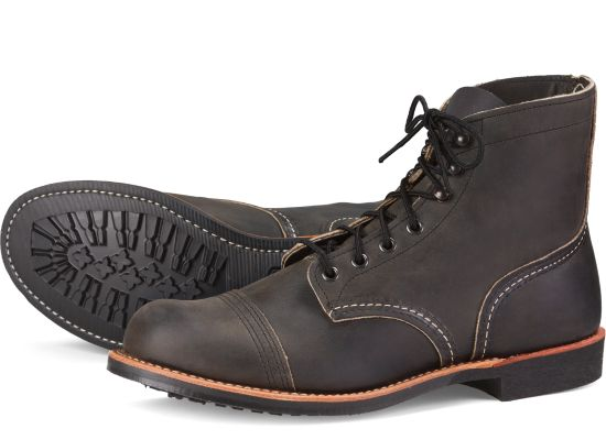 Men's 8084 Iron Ranger Charcoal 6""