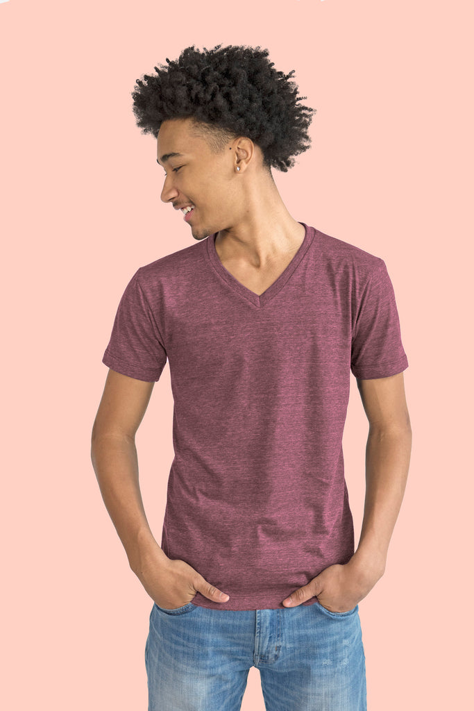 Essential V-Neck - Burgundy - Reservoir