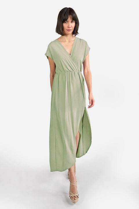 Crossover Maxi Dress - Sage - Reservoir