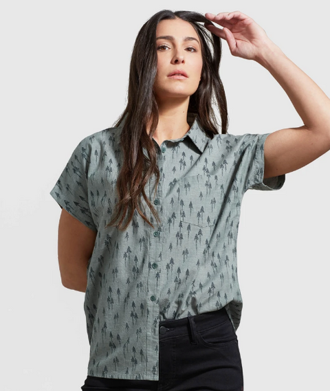 Short Sleeve Button Up - Moss Green - Reservoir
