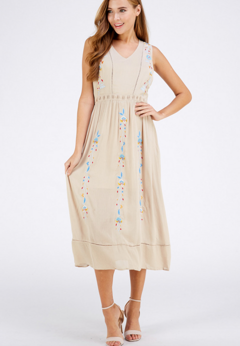 Embroidered Summer Dress