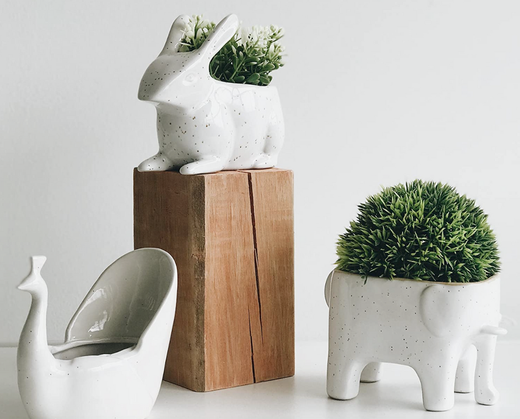Speckled Animal Planters