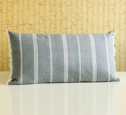Slate Striped Pillow