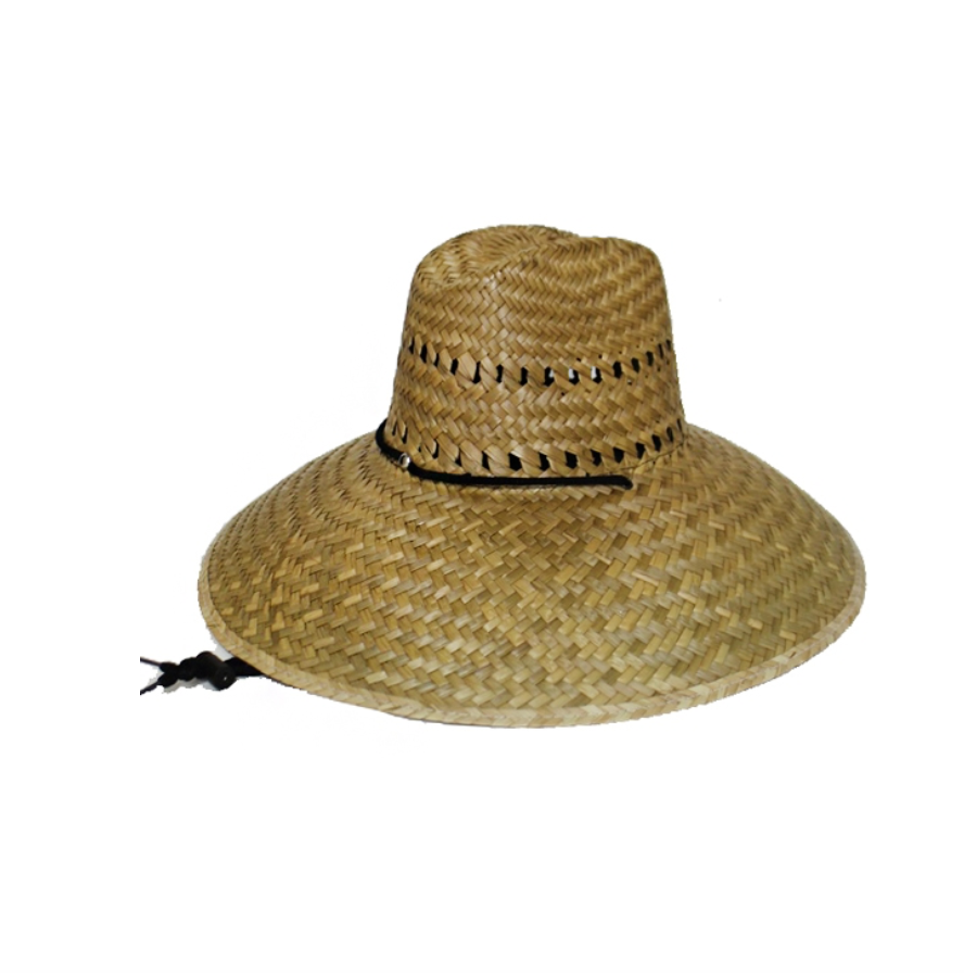 Straw Wide Brim Gardener Hat - Reservoir