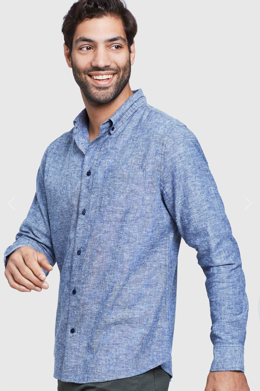 Long Sleeve Button Down - Midnight