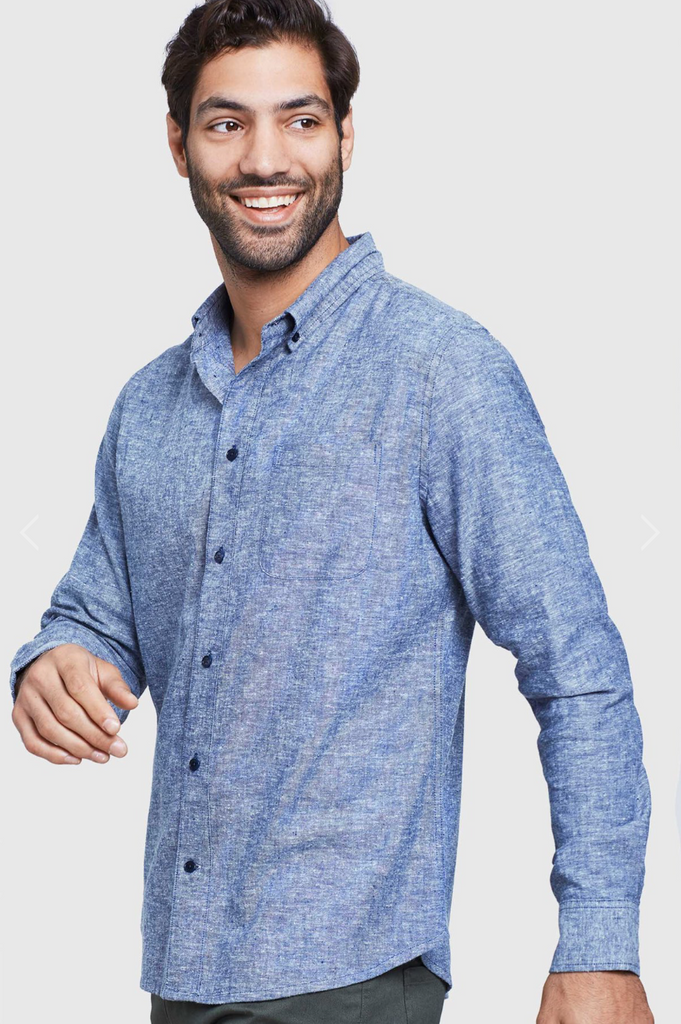 Long Sleeve Button Down - Midnight - Reservoir