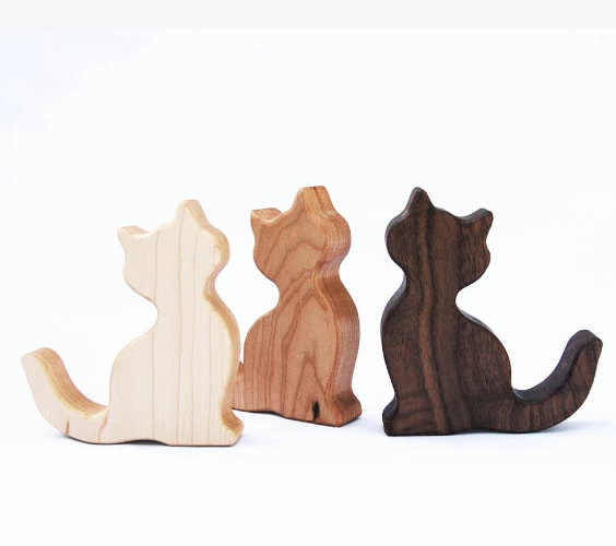 Wooden Cat Rattle - Reservoir