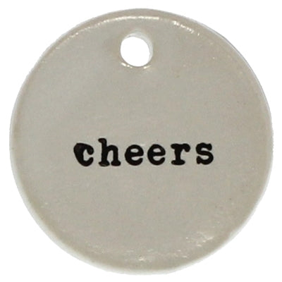 Cheers Round Ceramic Gift Tags