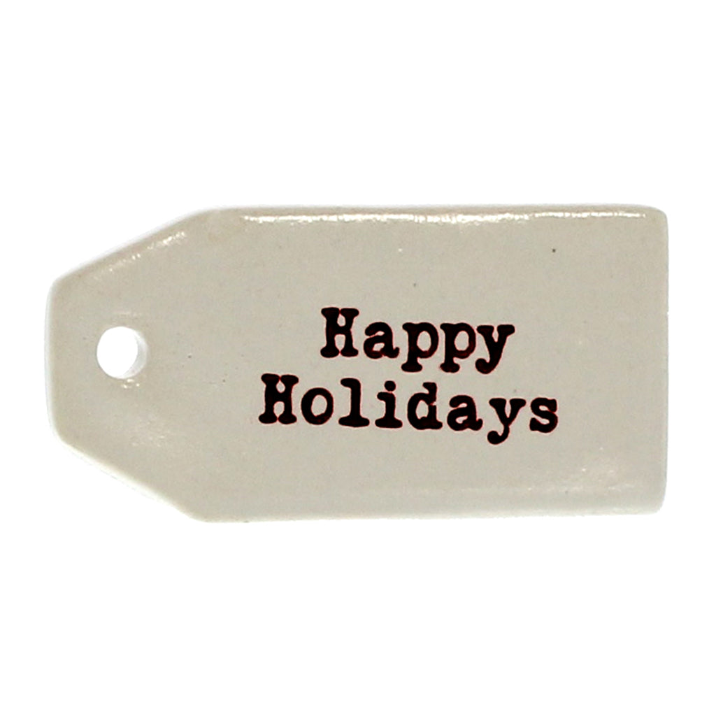 Happy Holidays Ceramic Gift Tags
