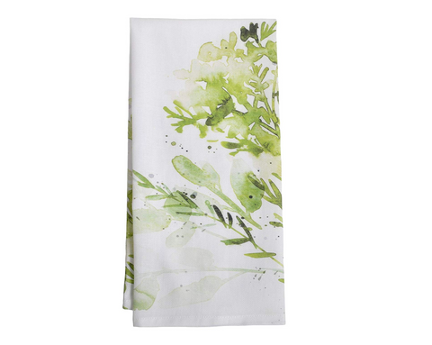 Watercolor Herb Tea Towel - Reservoir