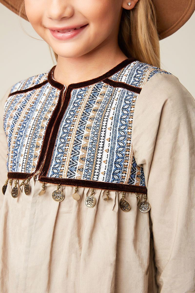 Kids' Embellished Jacket Top - Taupe - Reservoir