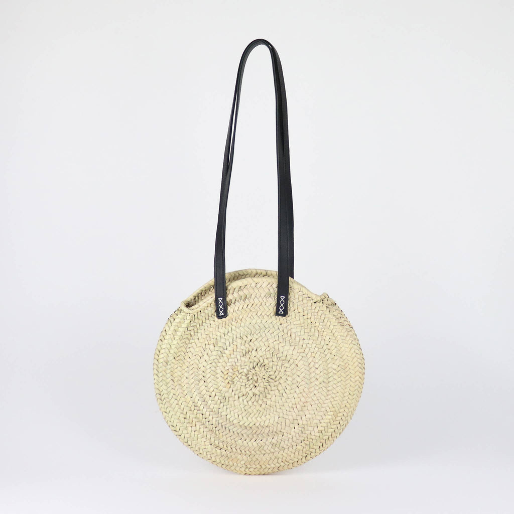 Tulum Round Straw Bag - Small - Reservoir