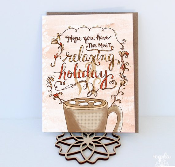 Relaxing Holiday Cards -Set of 6 - Reservoir