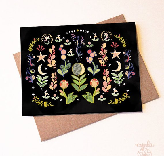 Moon Flower Card - Set of 6 - Reservoir