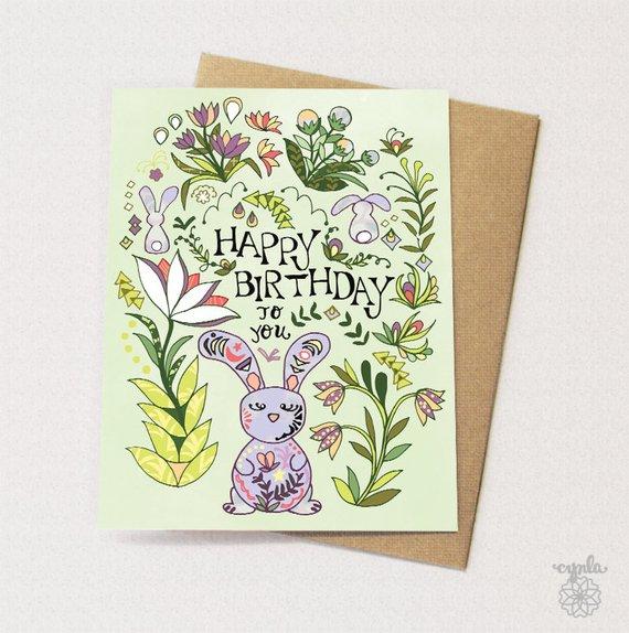 Happy Birthday Bunny Card - Reservoir