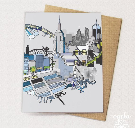 NYC Card - Set of 6 - Reservoir