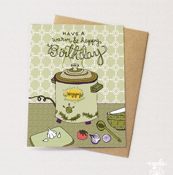 Birthday Crockpot Card - Reservoir