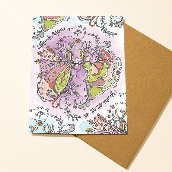 Thank you Flower Card - Set of 6