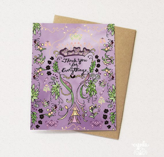 Lilac Thanks Card - Set of 6 - Reservoir
