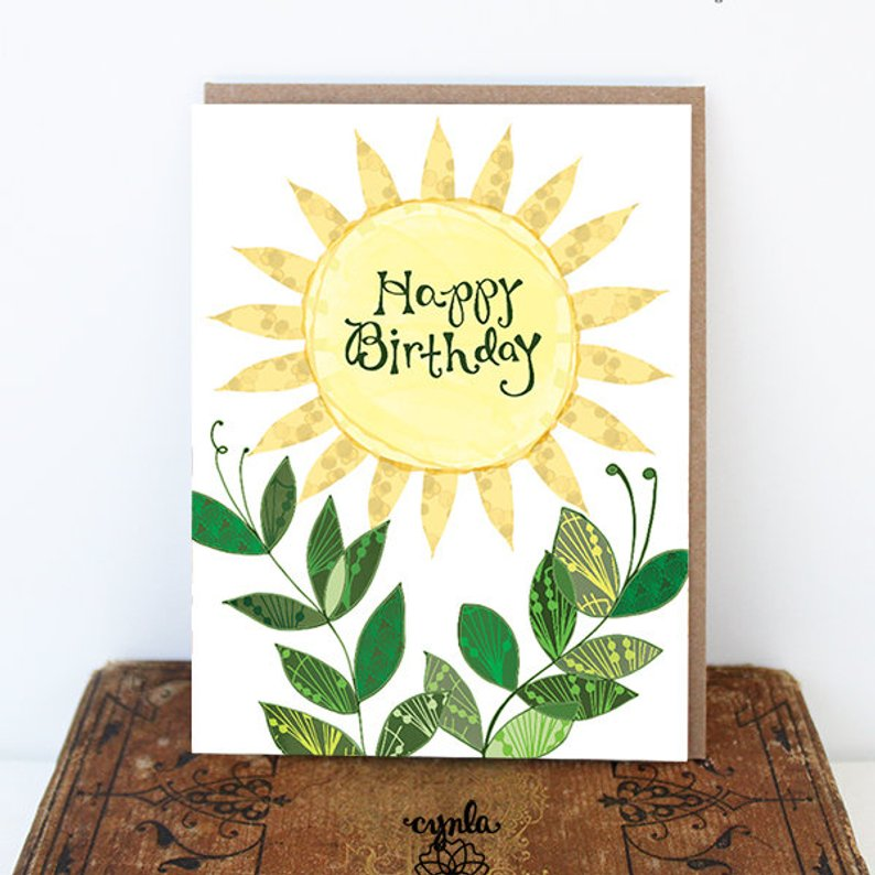 Sun Birthday Card - Reservoir