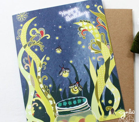 Fireflies Birthday Card - Reservoir