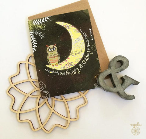 Owl Moon Birthday Card