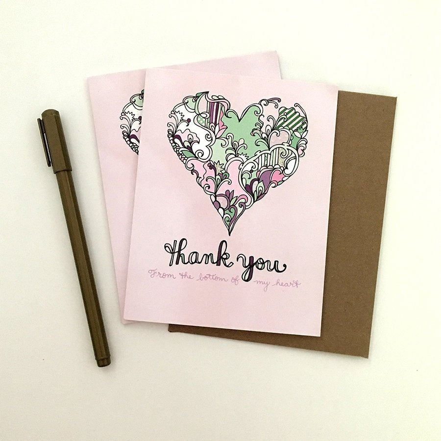 Purple Thank You Card - Set of 6
