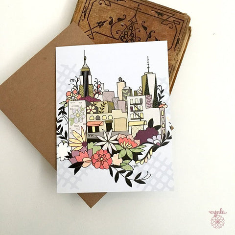 Floral NYC Card - Reservoir