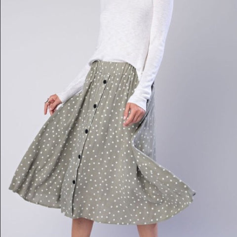 Polkadot Skirt - Green