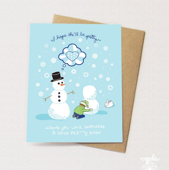 Pretty Snow Card - Set of 6