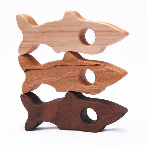 Wooden Shark Rattle