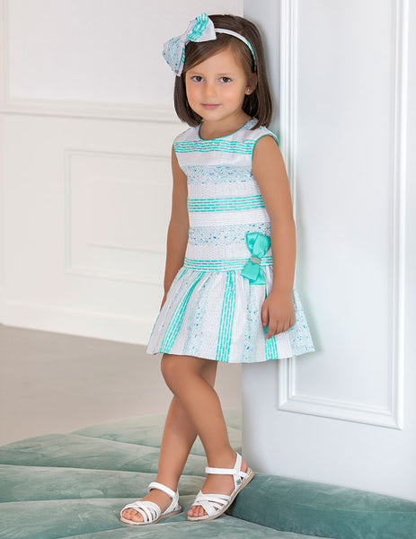 Abel and Lula Aquamarine Dress