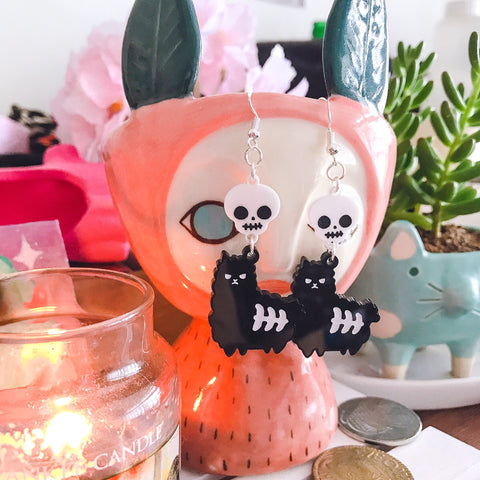 Spooky Paca Earrings