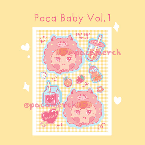 Paca Baby Vol.1 Sticker Sheet