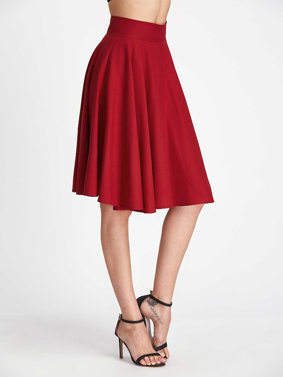 High Rise Wide Waistband Circle Skirt - Truly Yours, Fashion
