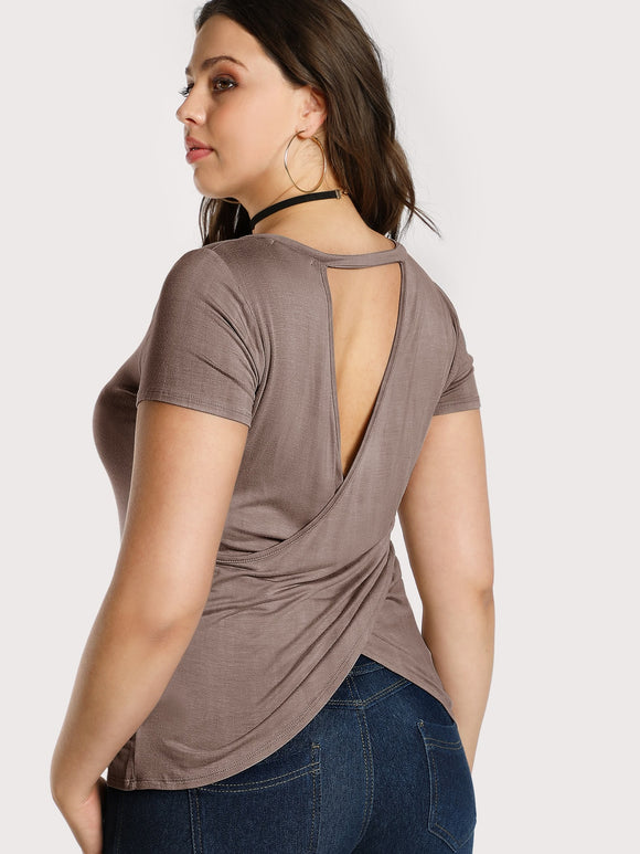 Plus Cutout Back Fitted Tee