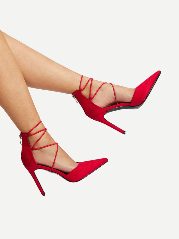 Lace Up High Heels - Truly Yours, Fashion