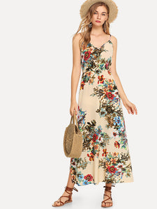 Flower Print Cami Dress - Truly Yours, Fashion