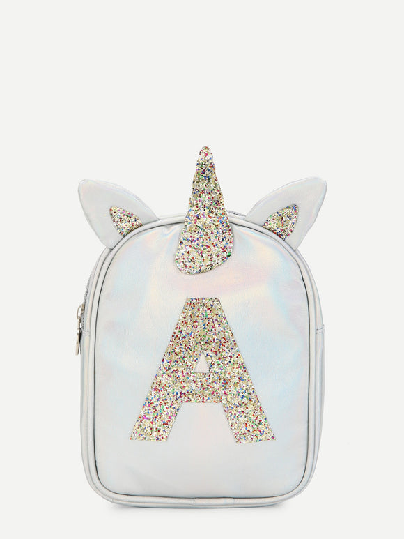 Girls Unicorn Ear Design Glitter Backpack - Truly Yours, Fashion