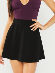 Elastic Waist Textured Skirt - Truly Yours, Fashion