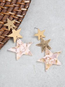 Dangle Star Trio Earrings - Truly Yours, Fashion