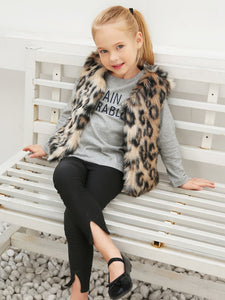 Leopard Faux Fur Vest - Truly Yours, Fashion