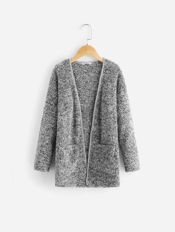 Pocket Front Teddy Coat - Truly Yours, Fashion