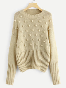 Pompom Beaded Sweater - Truly Yours, Fashion