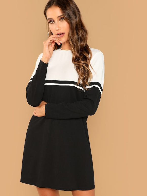 Color Block Tunic Dress - Truly Yours, Fashion