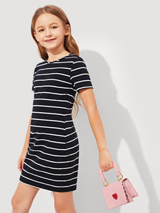Striped T-Shirt Dress - Truly Yours, Fashion