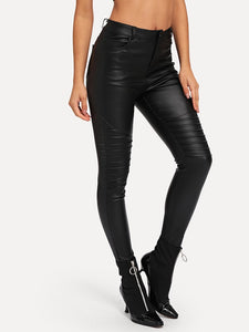 Crinkle Skinny Coated Jeans - Truly Yours, Fashion
